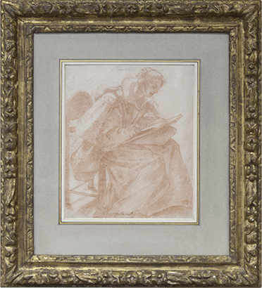 A lady seated, sketching